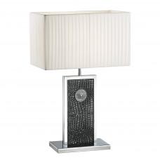 870937 (PD3088-BL) Настольная лампа FARAONE 1х60W E27 кожа/черный/хром (в комплекте)