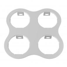 214646 Рамка DOMINO ROUND 2x2 МR16 белый (в комплекте)